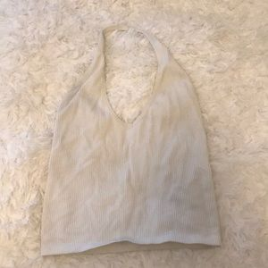 URBAN OUTFITTERS WHITE AROUND THE NECK CROP TOP